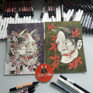 EDO Tattoo Artwork Masken
