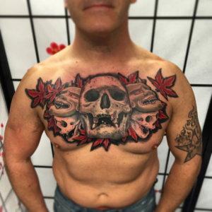 edo-tattoo-002-chestskull-brust