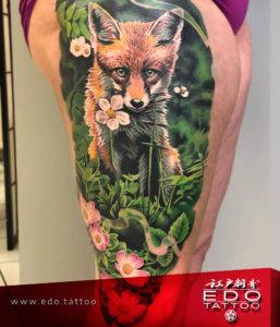 edo-tattoo-NAKATA-realistic-fox